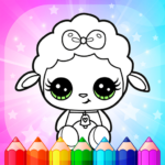 Flower Magic Color-kids coloring book with animals (mod) 3.8