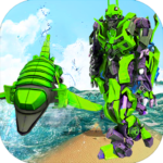 Futuristic Robot Dolphin City Battle – Robot Game (mod) 1.6
