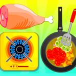 Fried Veg Chicken Salad – Cooking Game (mod)