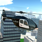 Police Helicopter City Flying (mod)